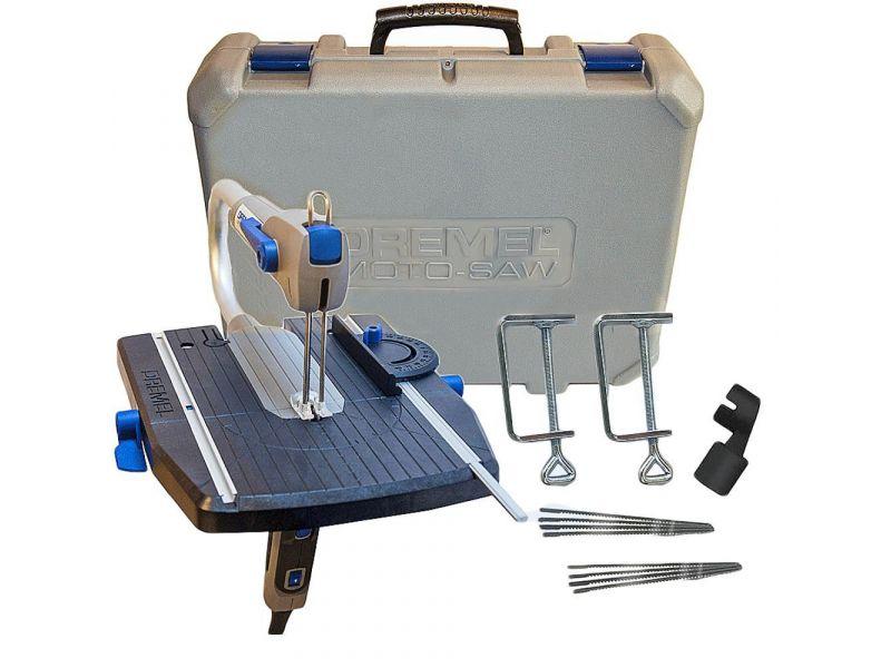 Micro Serra Tico Tico De Mão/Bancada 70w + Maleta Com 12 Acessórios - Moto-Saw - Dremel
