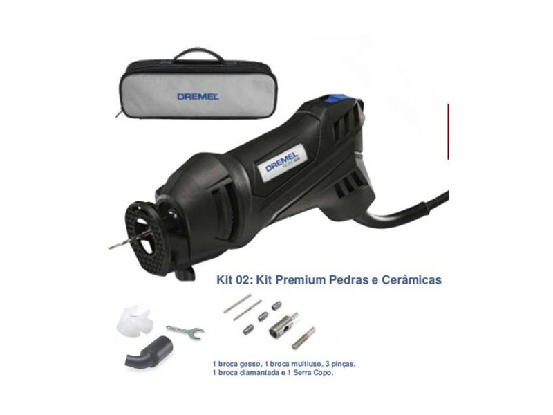 Serra De Broca Dremel 9050 Pro-02 Profissional 500w C/ Kit Premium Para Pedras E Cerâmicas Dremel