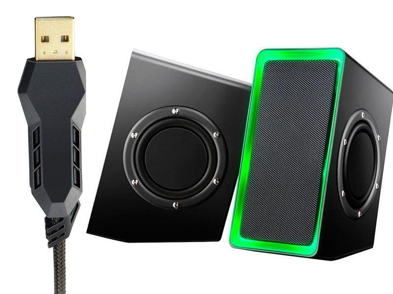Caixa de Som Multilaser Gamer Led Light USB