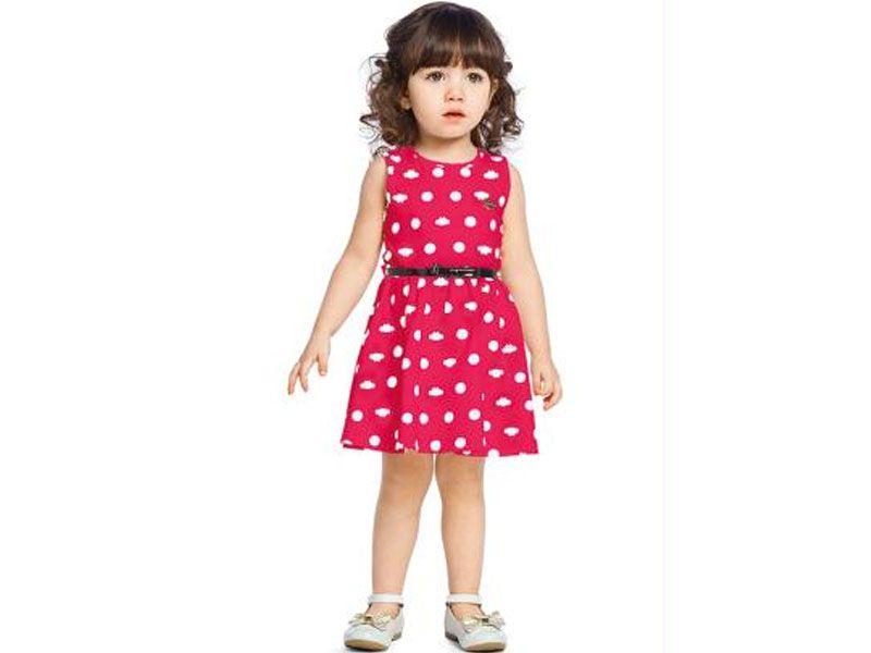 Vestido com Cinto Lilica Ripilica Baby Rosa