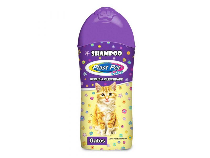 Shampoo para Gatos Plast Pet Care - 500ml