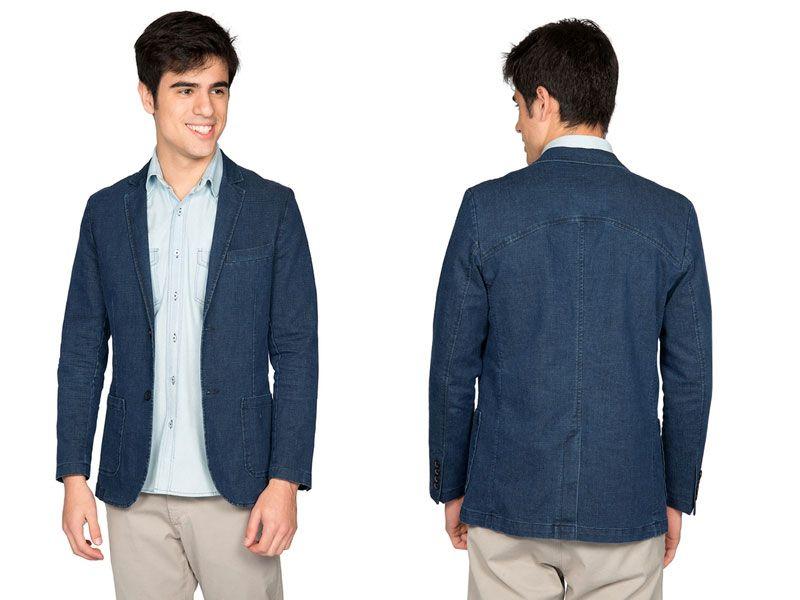 Blazer Di Sotti Jeans Azul Marinho