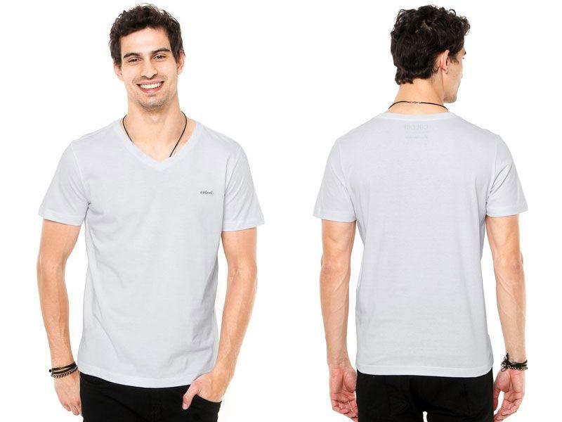 Camiseta Colcci Slim Logo Branca