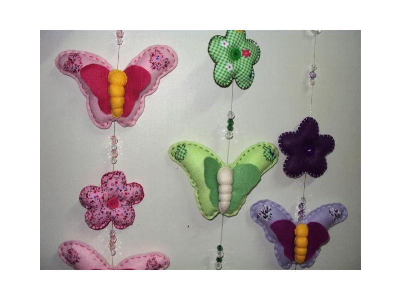 Móbile borboleta - Cor de Rosa