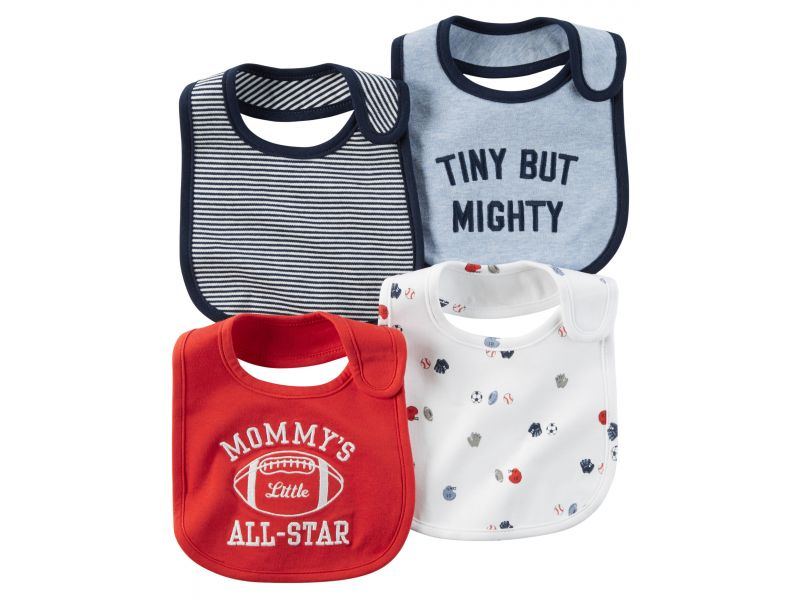 Kit 4 babadores All Star Carter's