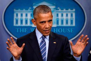 Obama fazendo seu discurso na língua inglesa