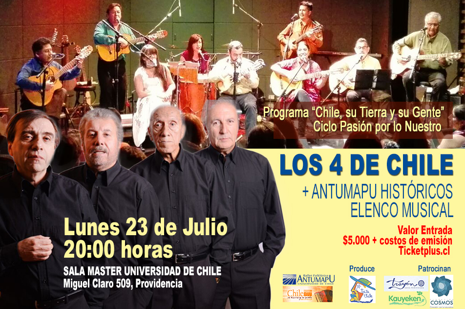 Los 4 de Chile + Antumapu Históricos Elenco Musical