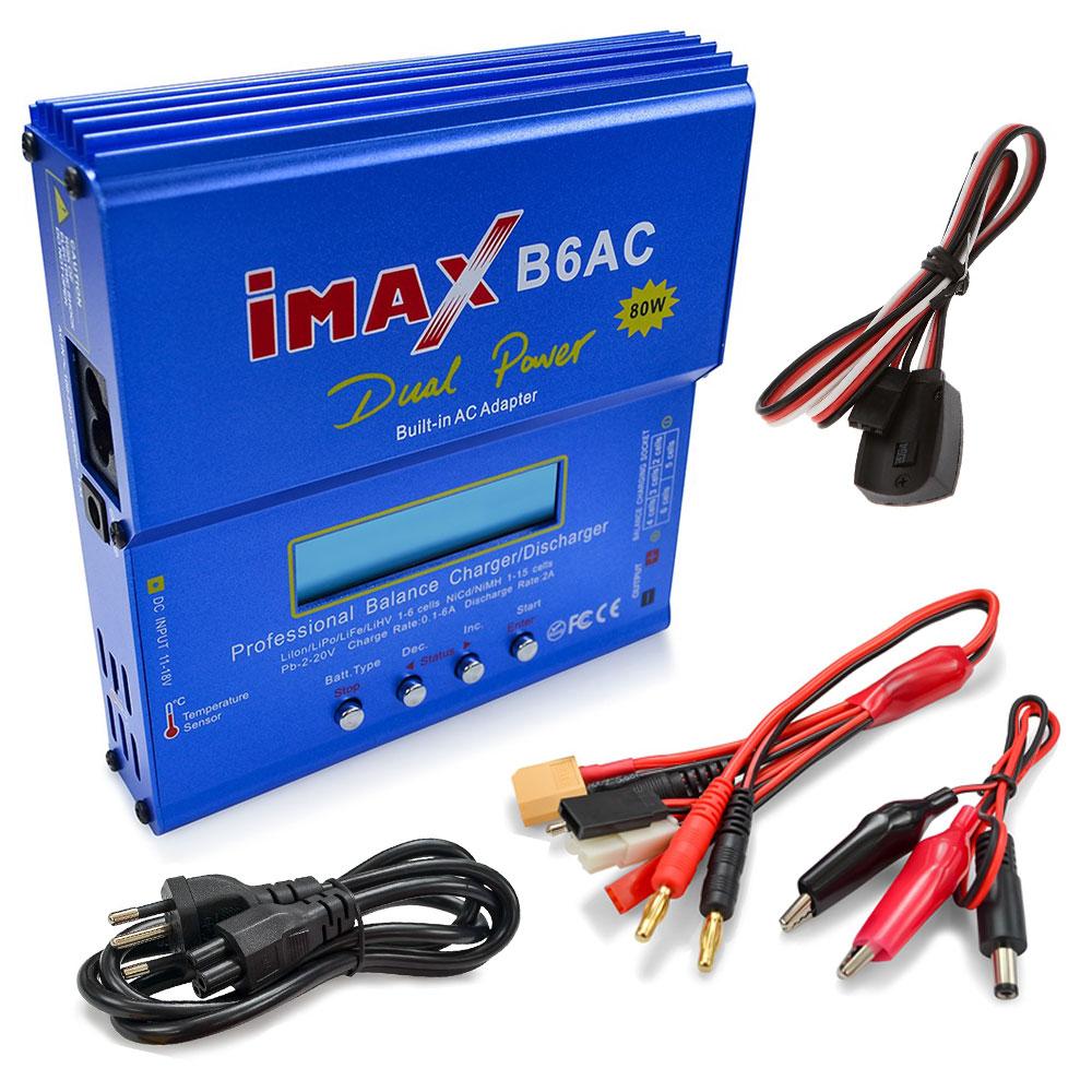 Carregador B6AC IMAX 80w 110/220V com Sensor Temperatura