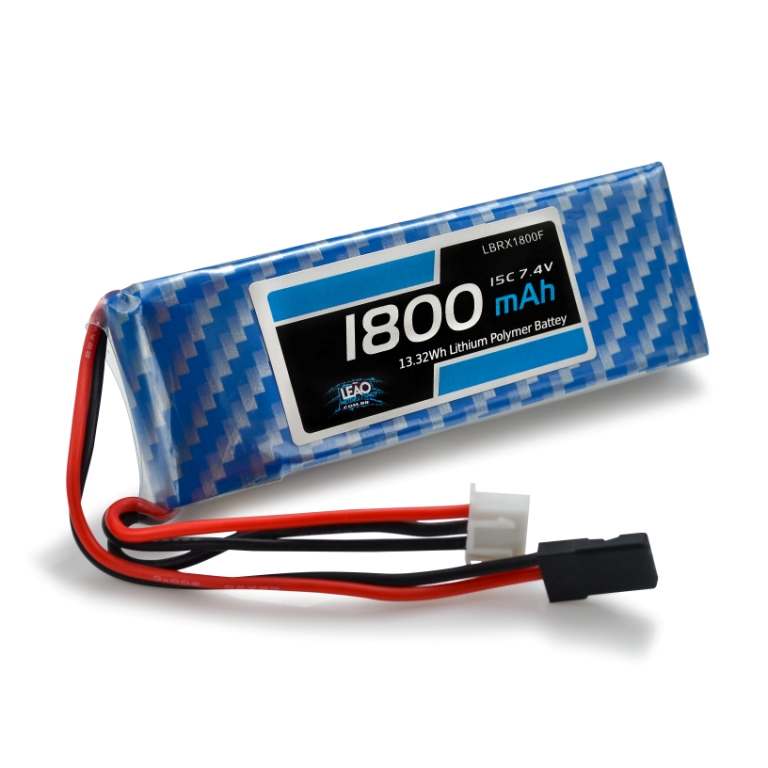 Bateria - Lipo (RX) 7.4V 2S 15C 1800mAh