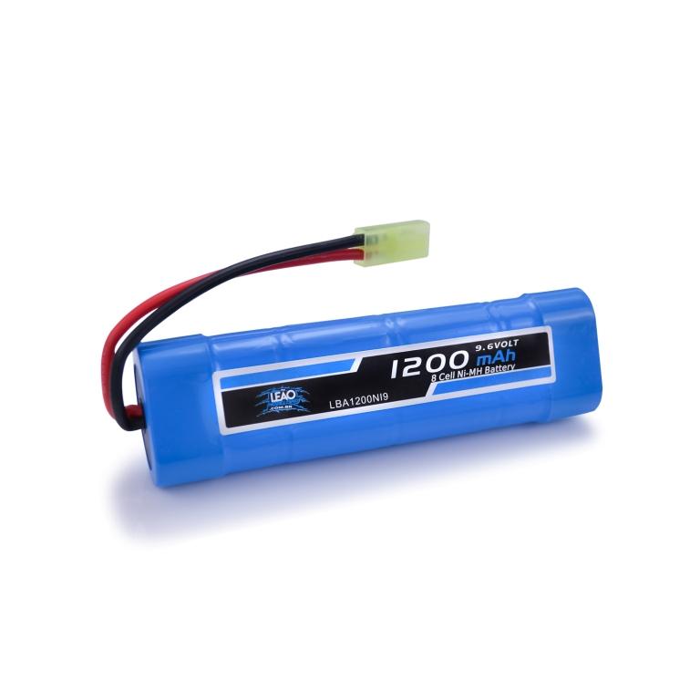 Bateria Airsoft - NIMH - 9.6V - 1200mAh - Mini Tamiya