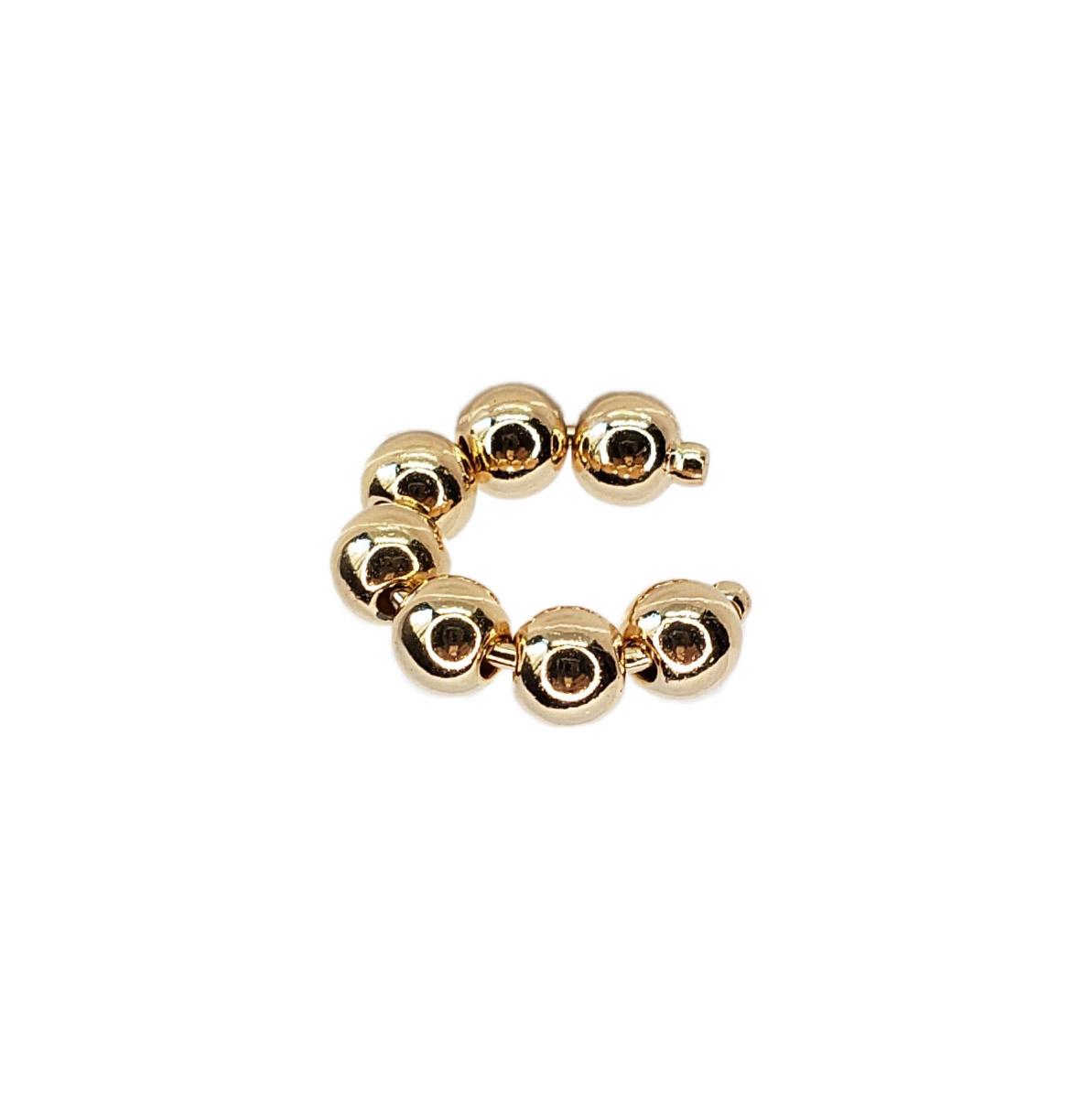 Piercing Bolinhas Inteiro Folheada em Ouro 18k