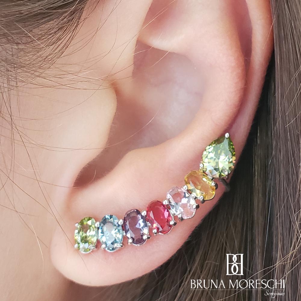 Brinco Ear Cuff Rainbow Pequeno