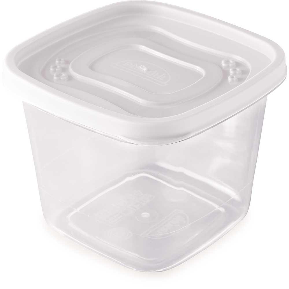Pote Clic quadrado de plástico BPA Free 1,2 Litros Incolor