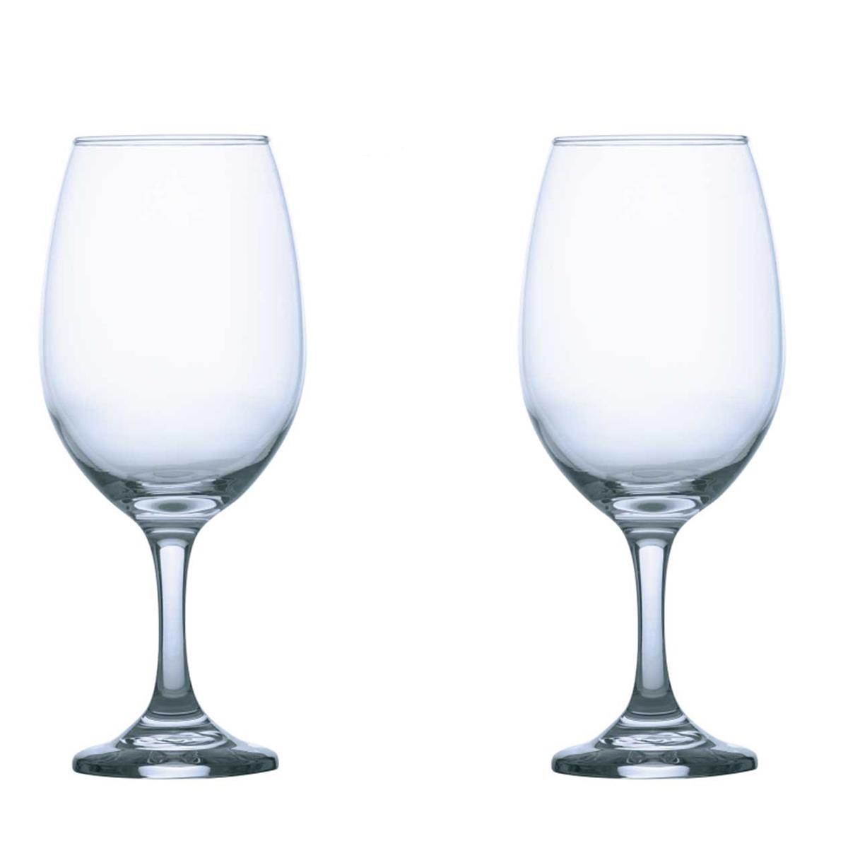 Kit com 2 taças para água de vidro clássica 386ml Gran Vino