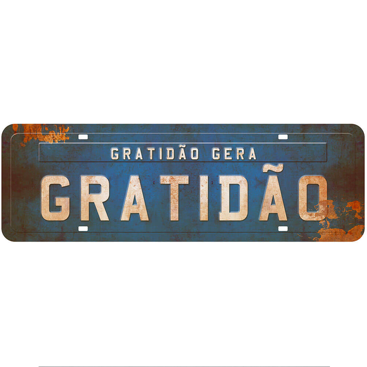 Placa decorativa para pendurar MDF 40x13cm frase Gratidão