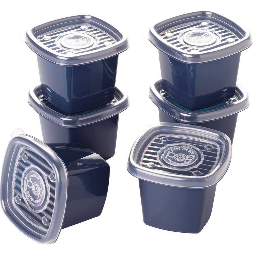 Conjunto potes quadrados 6 peças de 170mls Pop Colors