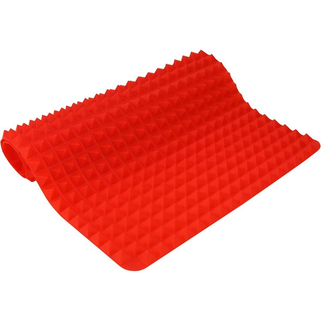 Tapete culinário para forno silicone 40cm até 220º vermelho