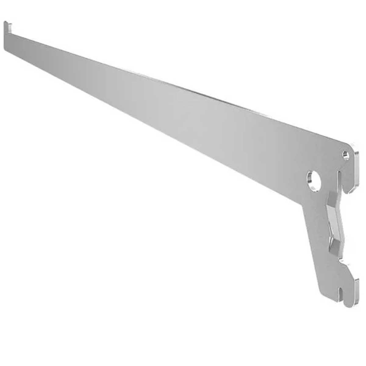 Suporte simples para prateleira 20cm em aço até 55Kg Branco