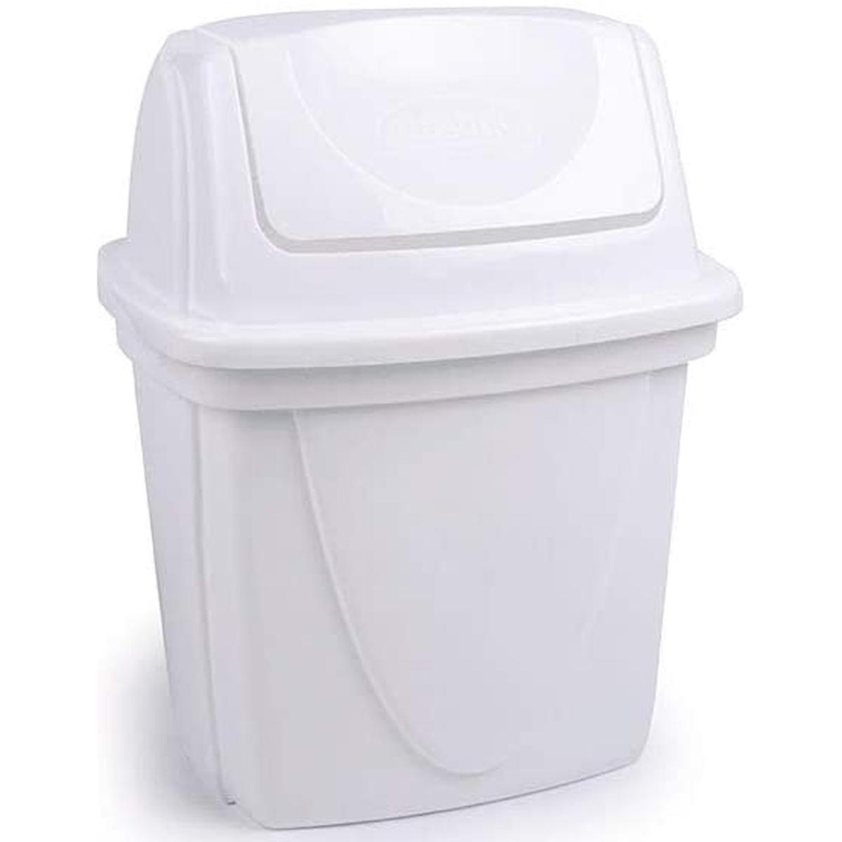 Lixeira de plástico para pia basculante 6,5 Litros Branca