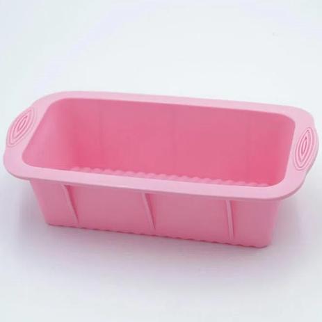 Forma para bolo com aba 24x13,5cm até 230º de silicone Rosa