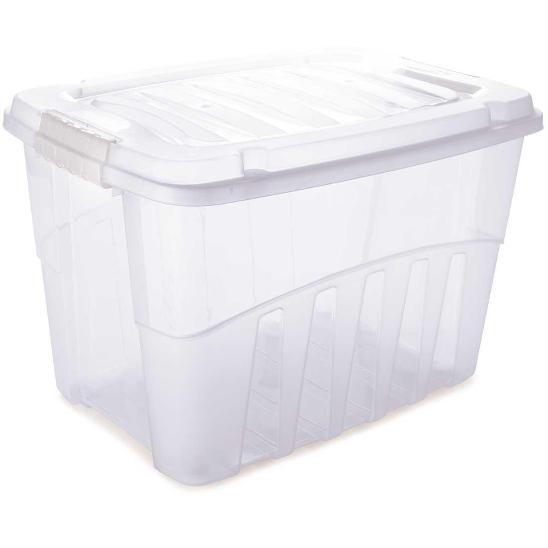 Caixa organizadora baixa Gran Box 78 Litros transparente