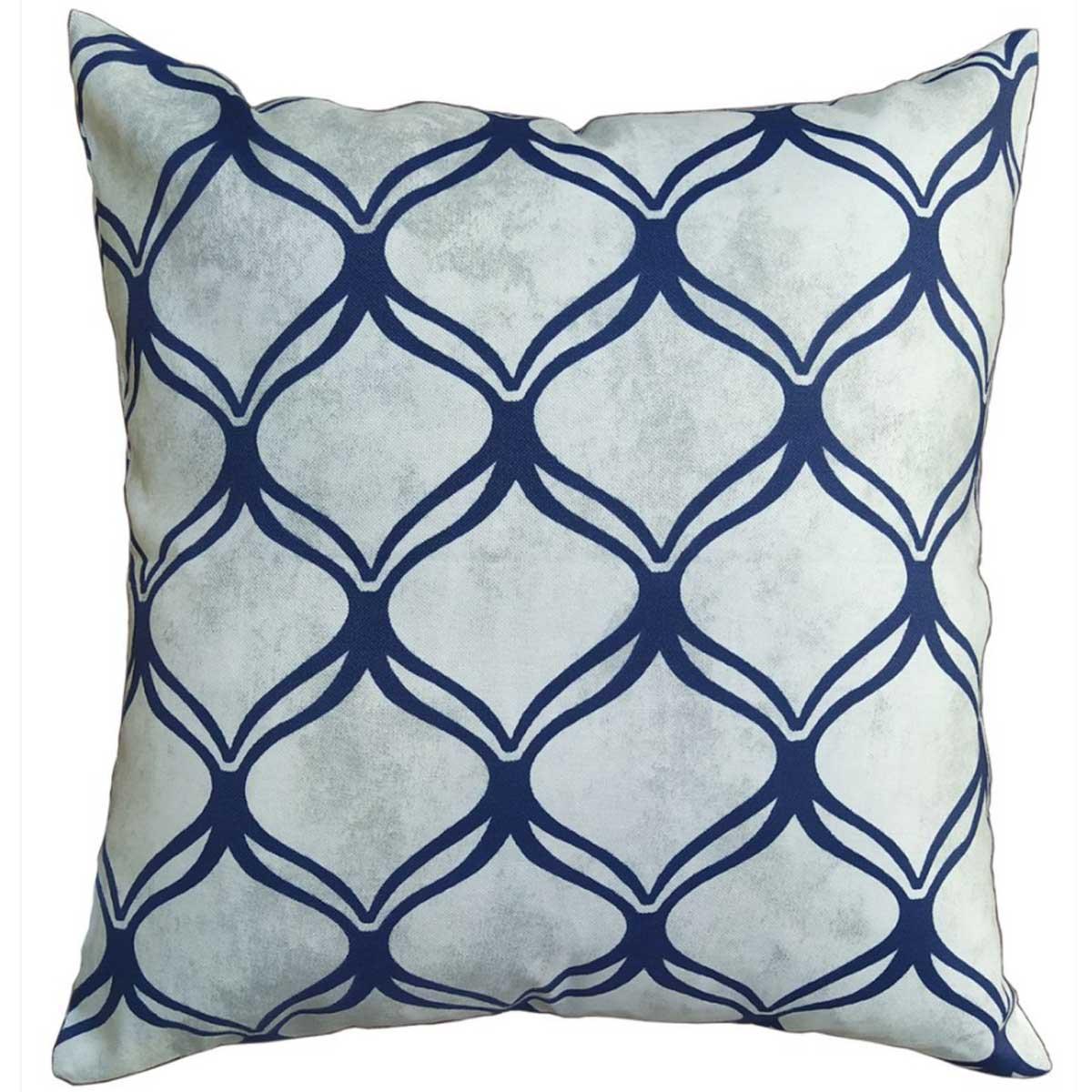 Almofada com enchimento 43 x 43cm Astúrias arabesco Azul