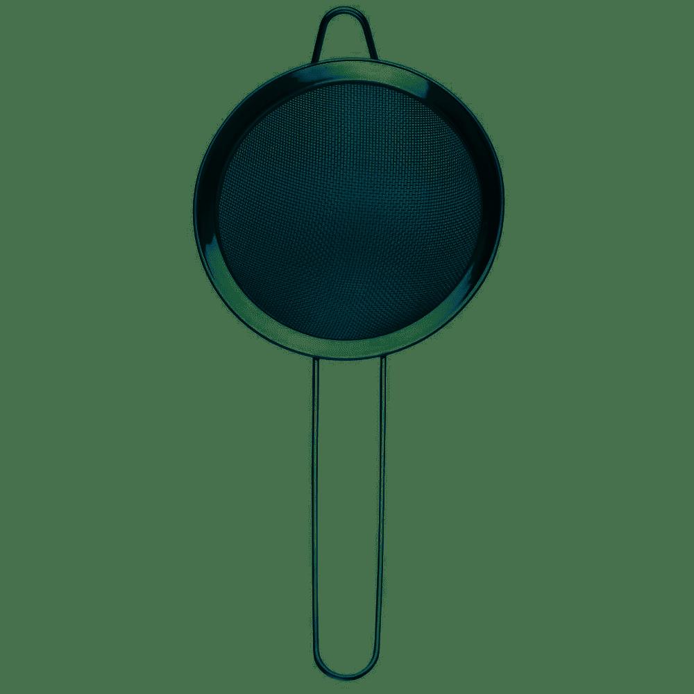 Peneira multiuso 12cm com cabo e alça de apoio em Aço Inox