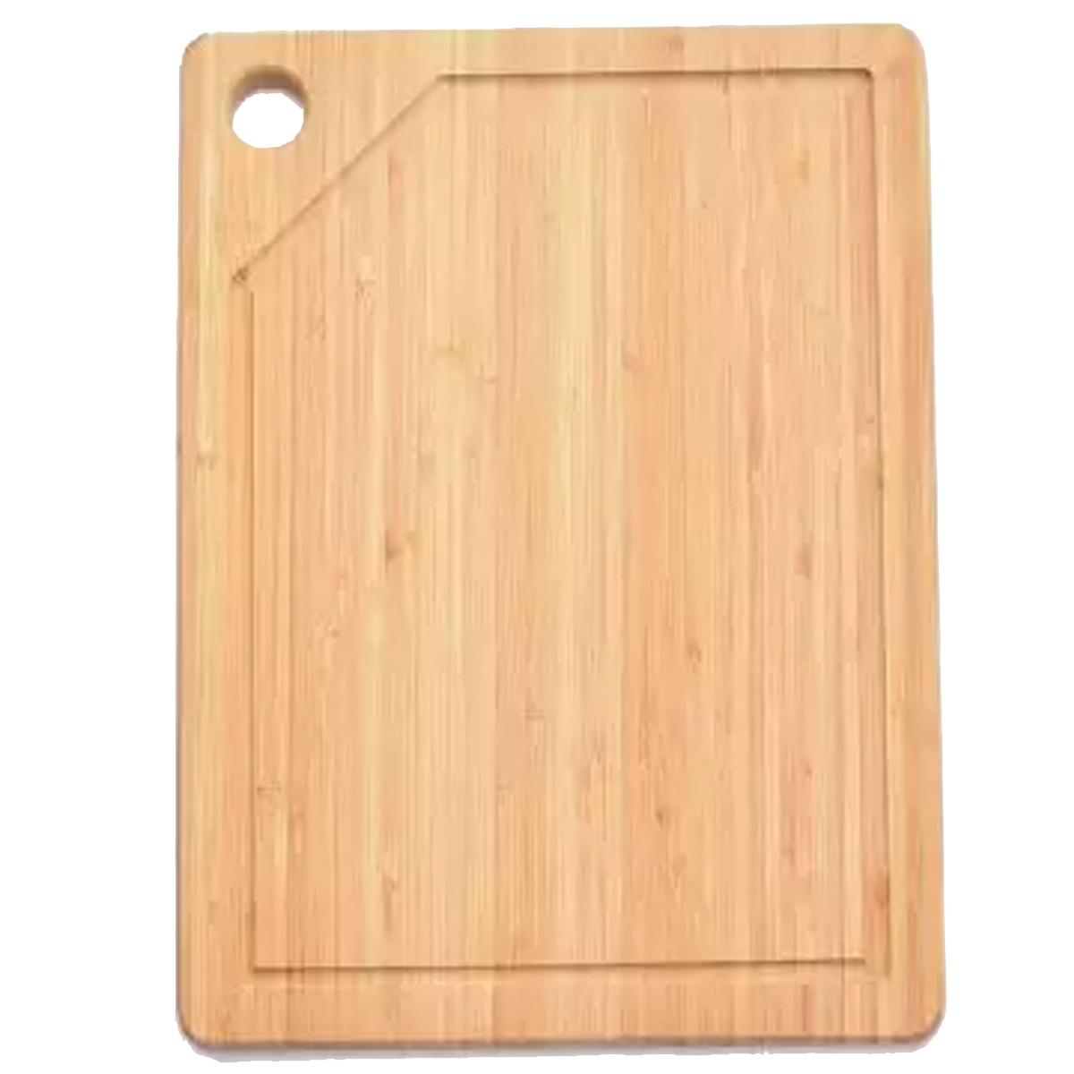 Tábua de corte retangular 33,5x21,5cm de Bambu ecológico