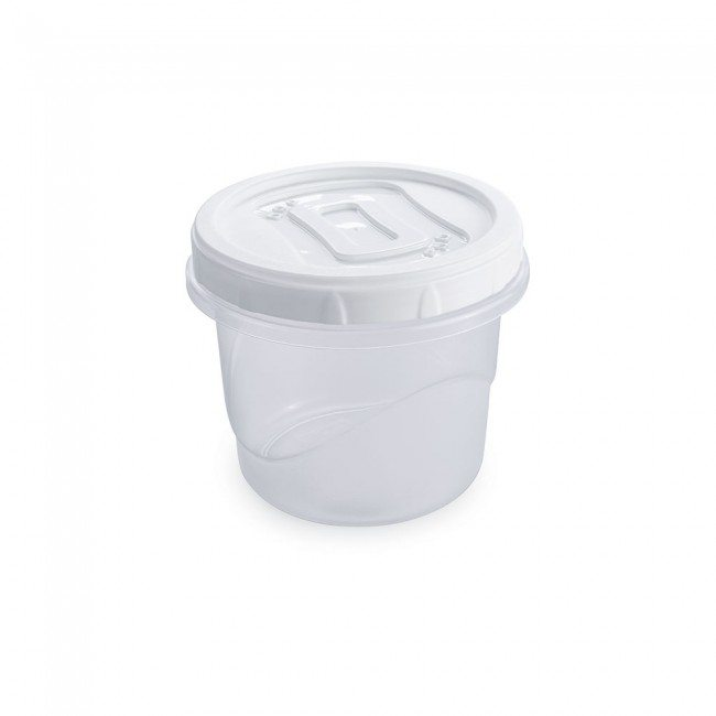 Pote clic rosca redondo de plástico BPA Free 720mls Incolor