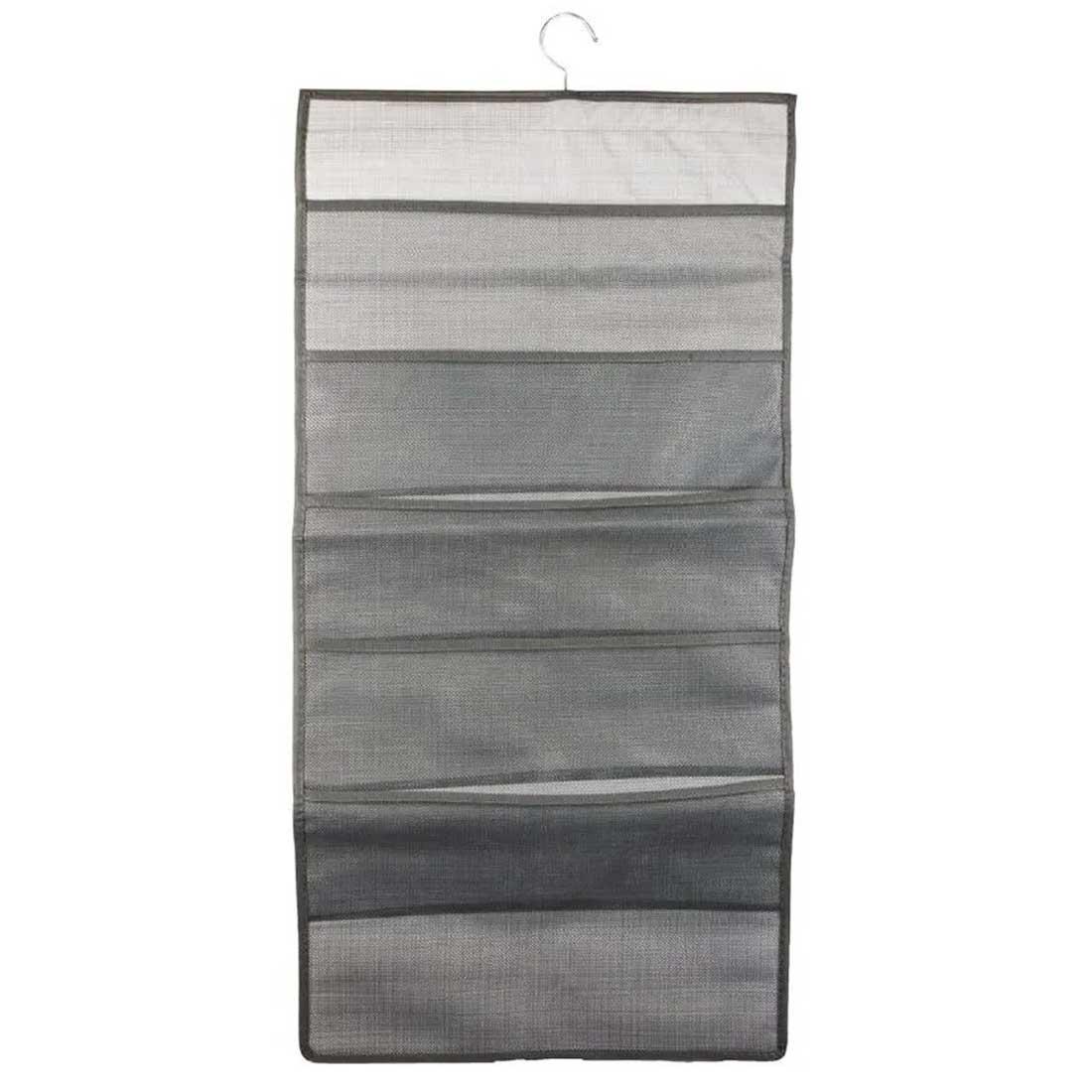 Cabide organizador 15 bolsos em tecido 78x40cm Cinza