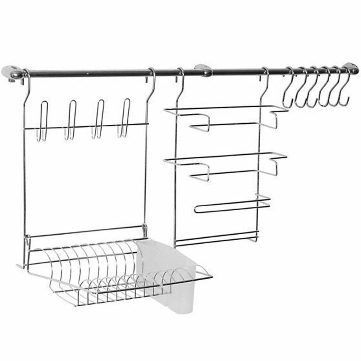 Cook Home 9 com escorredor e barras 100 x 47,5cm em Aço