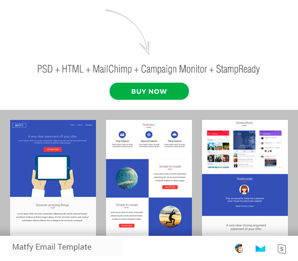 Matfy - Multiporpouse Newsletter Template