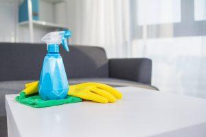 produtos de limpeza, materiais de limpeza, luva