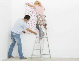 como aplicar papel de parede, aplicação de papel de parede