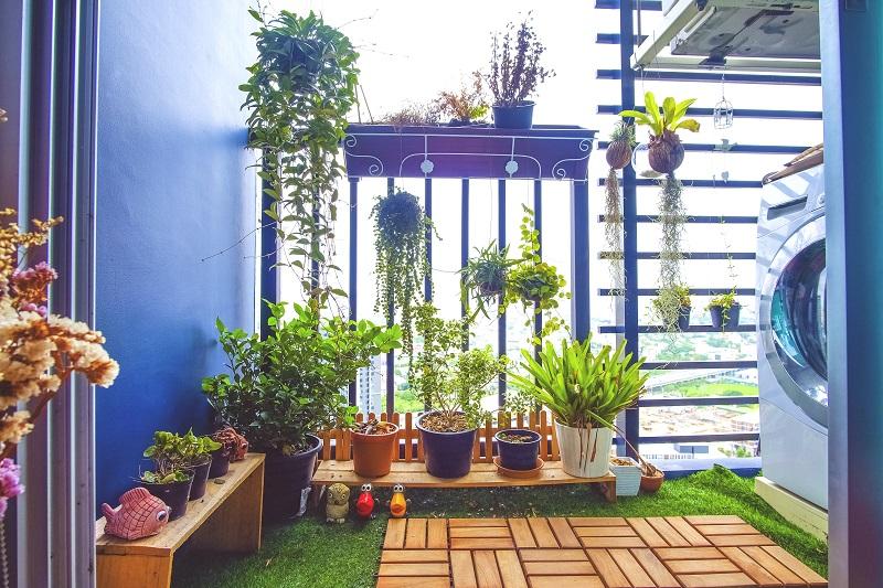 decoração de varanda, decoração de jardim