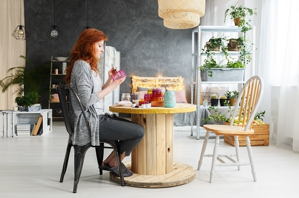 como fazer mesa de madeira, como fazer mesa, como fazer mesa de carretel