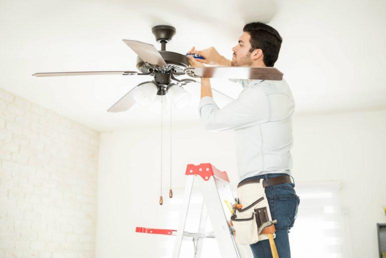 instalar ventilador, instalação de ventilador de teto, instalador de ventilador de teto