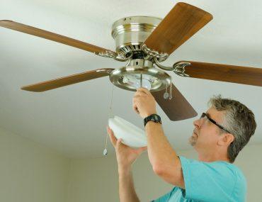instalar ventilador de teto com lampada