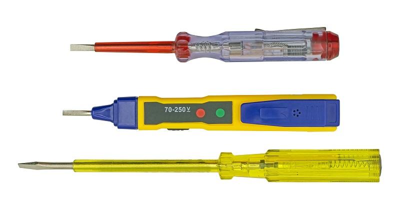 ferramentas para casa, chave teste como usar