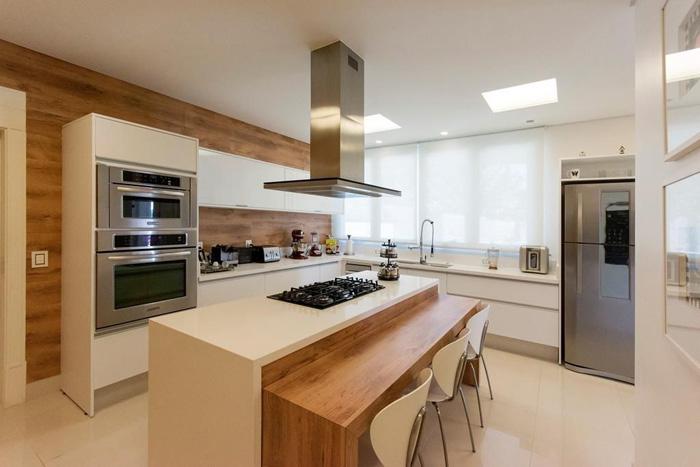 cozinha com revestimento, tipos de revestimento para cozinha, revestimento 3D, ladrilhos, azulejos, tijolinho
