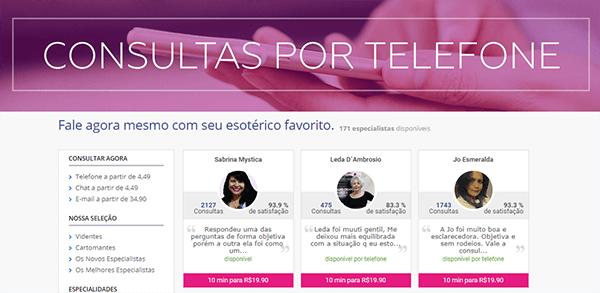 consulta com vidente por telefone - tutorial