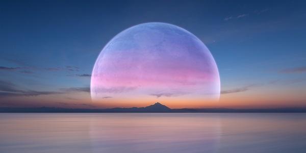 Calendário lunar com as fases da Lua