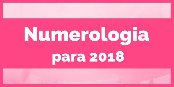 Numerologia para 2018