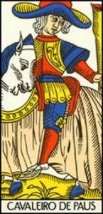 cavaleiro de paus no tarot