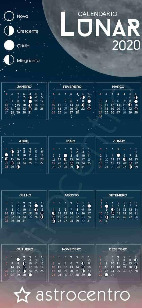 Calendario Lunar Febrero 2020.Calendario Lunar 2020 Y 2020
