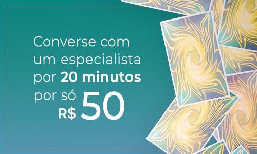 promo 20 minutos por 50 reais