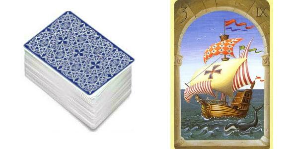 tarot lenormand el barco
