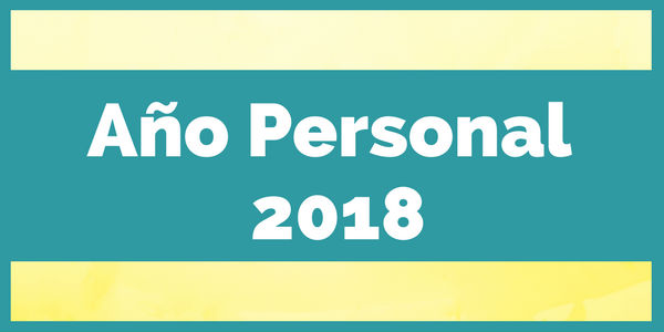 año personal 2018
