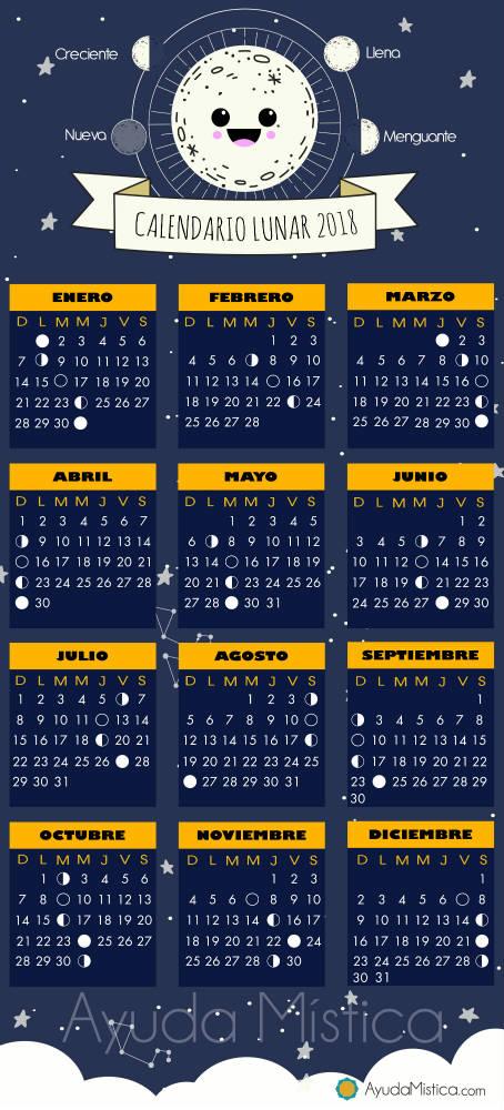 Fases de la luna 2018 tu futuro escrito en las estrellas for Calendario menguante