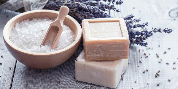 baño de sal gruesa